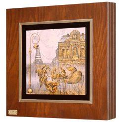 تابلو ورق طلا کد FWSGB-43x43-G