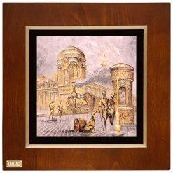 تابلو نقاشی ورق طلا FWSGB-43x43-H