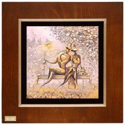 تابلو ورق طلایی