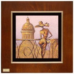 تابلو دیواری ورقه طلا