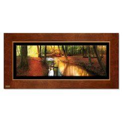 تابلو نقاشی پاییز و رودخانه