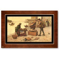 تابلو نقاشی بلوط فروشان هنرمندان ایتالیا