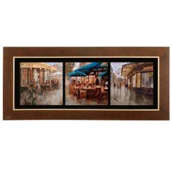 تابلو نقاشی سه تکه چوبی