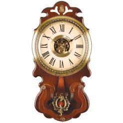 ساعت دیواری چوبی پاندول دار WSP-8803 لوتوس