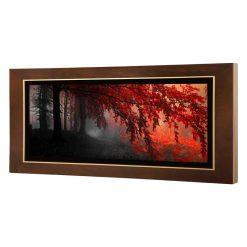 تابلو نقاشی جنگل سیاه قرمز