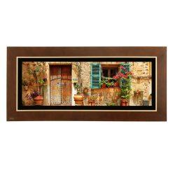 تابلو نقاشی خانه های روستایی