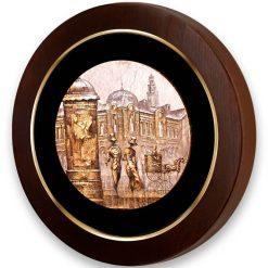 تابلو ورق طلا دایره ای FWSRG-40X40-D