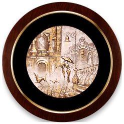 تابلو ورق طلا دایره ای FWSRG-40X40-E