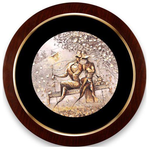 تابلو ورق طلا دایره ای FWSRG-40X40-H
