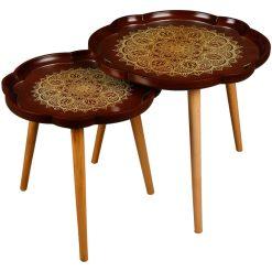 میز عسلی دو تیکه مدل LAURAMANDALA لوتوس