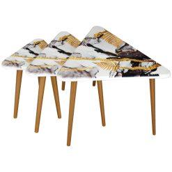 میز عسلی سه تیکه مدل GIOVANNA لوتوس