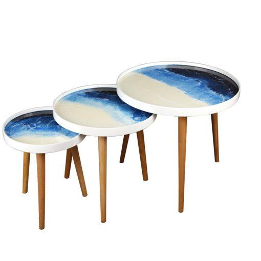 میز عسلی دو تیکه مدل OCEAN-FERNANDA لوتوس