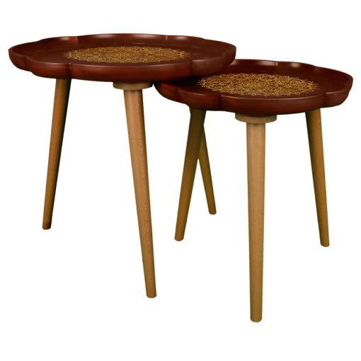 میز عسلی دو تیکه مدل LAURAMANDALA