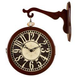 ساعت دیواری دوطرفه مدل LOTUS DARK