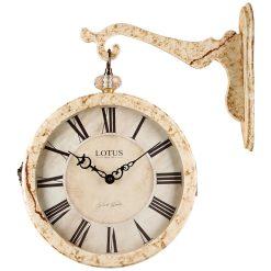 ساعت دیواری دوطرفه مدل LOTUS MARBLE