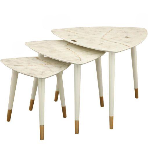میز عسلی سه تیکه CLAUDIA