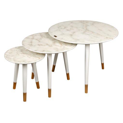 میز عسلی سه تیکه مدل DELFINA