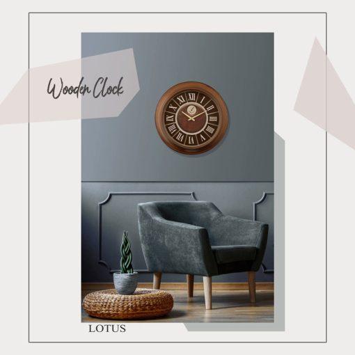ساعت دیواری چوبی jasper