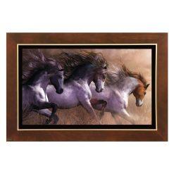 تابلو نقاشی سه اسب وحشی