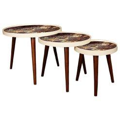 میز عسلی سه تکه MARBLE