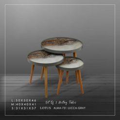میز عسلی سه تکه LUCCA