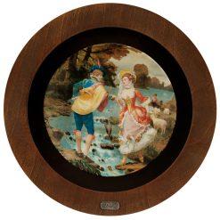 تابلو سرامیکی با قاب چوبی
